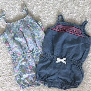 Lot of Carters Rompers 6months